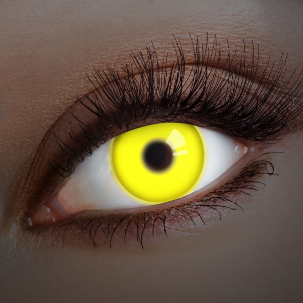yellow uv shock fun kontaktlinsen uv kontaktlinsen. Black Bedroom Furniture Sets. Home Design Ideas