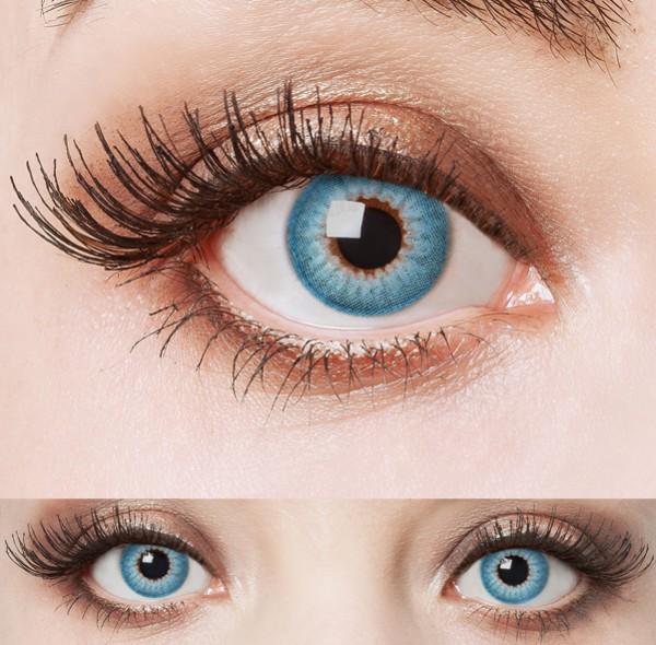 Blaue natürliche Kontaktlinsen